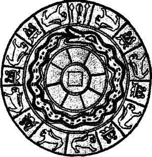 Юша Змей Держащий на Себе Землю